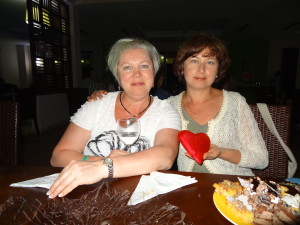 Cuba- OLya and I with the heart